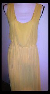 Torrid yellow pleated dress